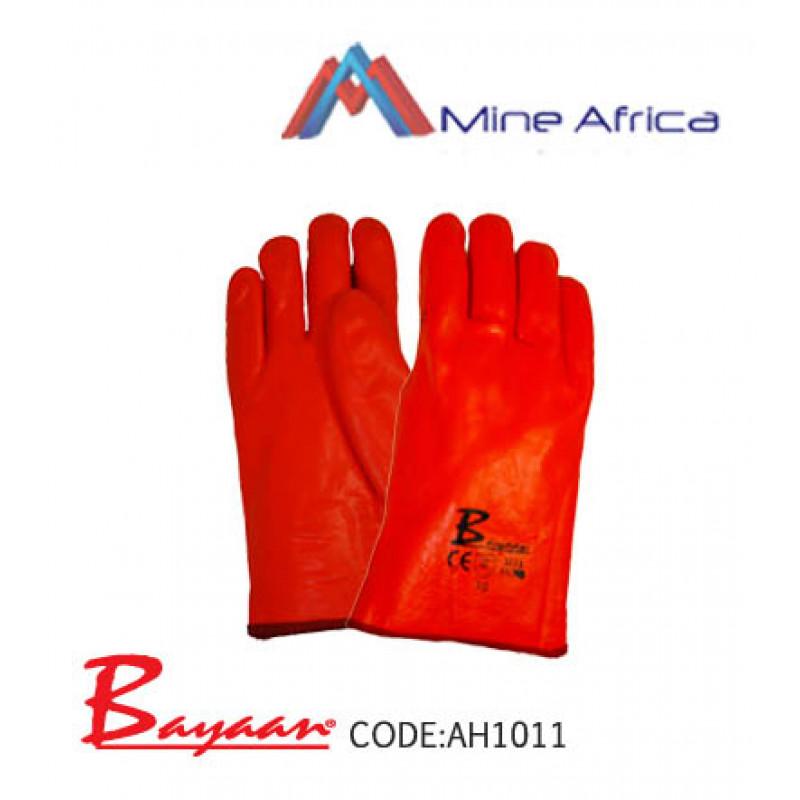 Bayaan PVC Fluorescent Orange Freezer Gloves 27cm